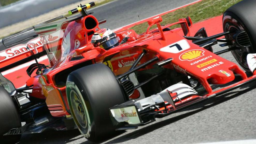 Kimi Raikkonen, durante los libres del sábado