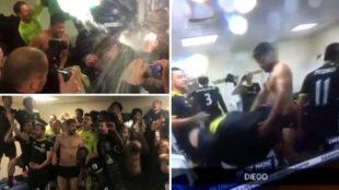 """Perreo de Costa, ducha a Conte, gritos de """"Campeones""""... así fue la fiesta del Chelsea"""