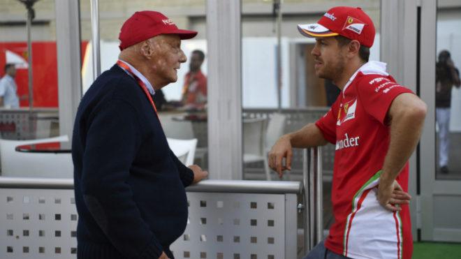 Lauda y Vettel.