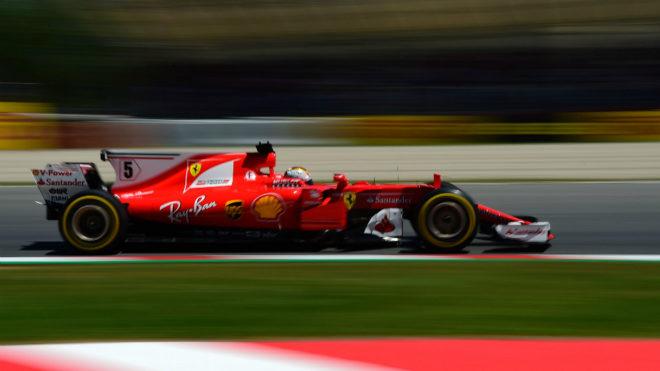 Vettel, ayer en Montmeló.