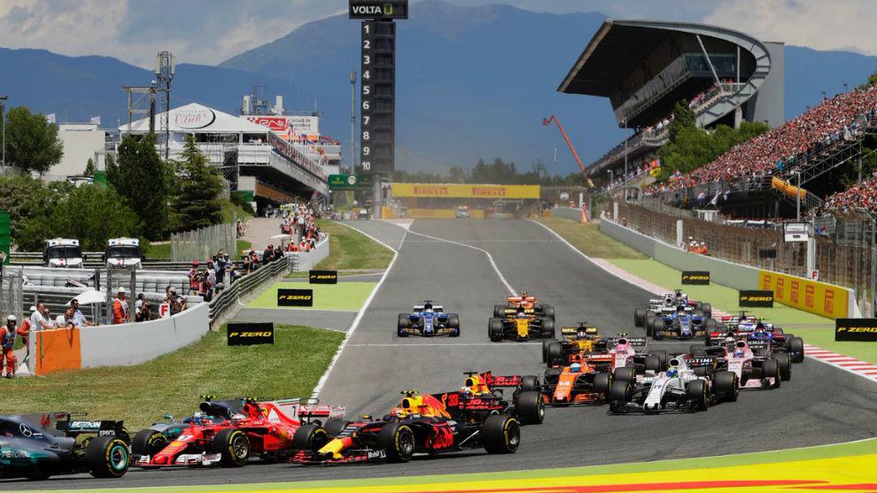 La salida del GP de España