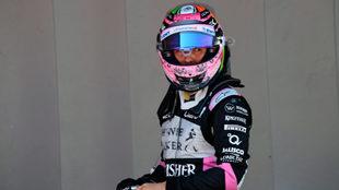 Sergio P�rez, en el circuito de Montmel�