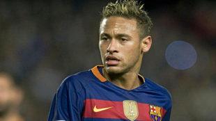 Neymar, durante un encuentro con el F.C. Barcelona