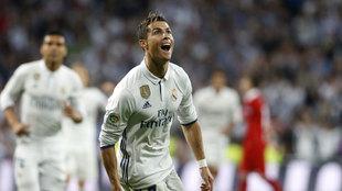 Cristiano Ronaldo celebrando un gol frente al Sevilla