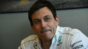 Wolff, director ejecutivo de Mercedes, en una entrevista con MARCA