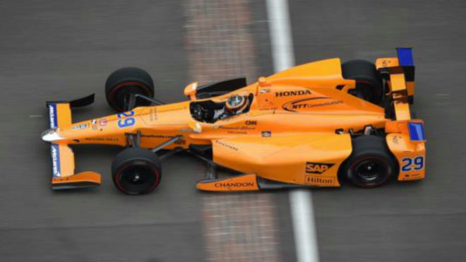 Alonso, en el Circuitio de Indianápolis.