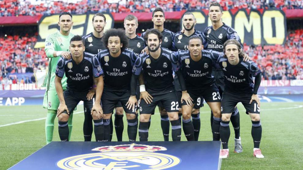 El once del Real Madrid en el Calderón