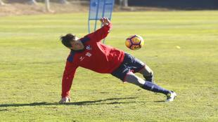 Juanjo Camacho (36), en un entrenamiento