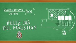 La Selección Mexicana mandó un mensaje a todos los maestros dentro y...