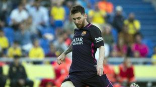 Messi, en el partido contra Las Palmas