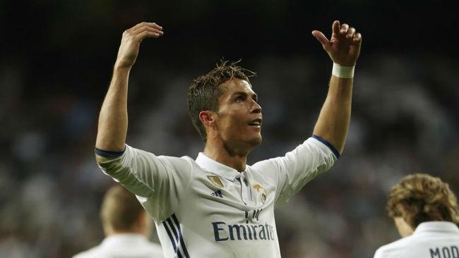Cristiano celebra un gol ante el Sevilla