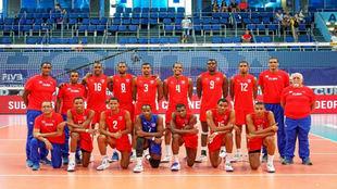 Selección cubana que participaba en la Liga Mundial