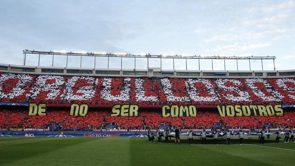 El tifo del Calderón ante el Real Madrid