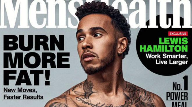 La portada de Hamilton en Men's Health Australia.