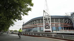 El Estadio Nacional de Gales, en Cardiff, donde se disputará la final...