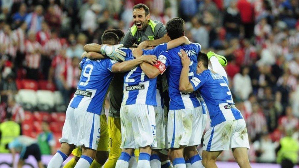 El Leganés celebra su permanencia en Primera División