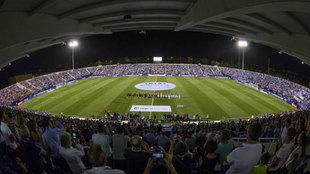 El estadio de Butarque en el último encuentro