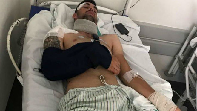 Jesús Alberto Ruiz, en el hospital.