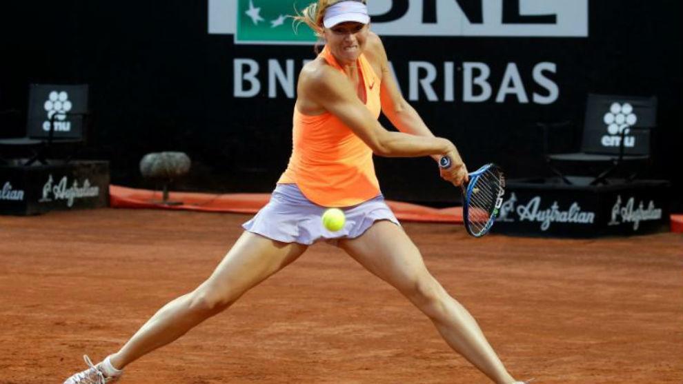 Sharapova pega de revés
