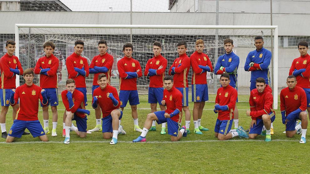 Los jugadores de la selección sub17.