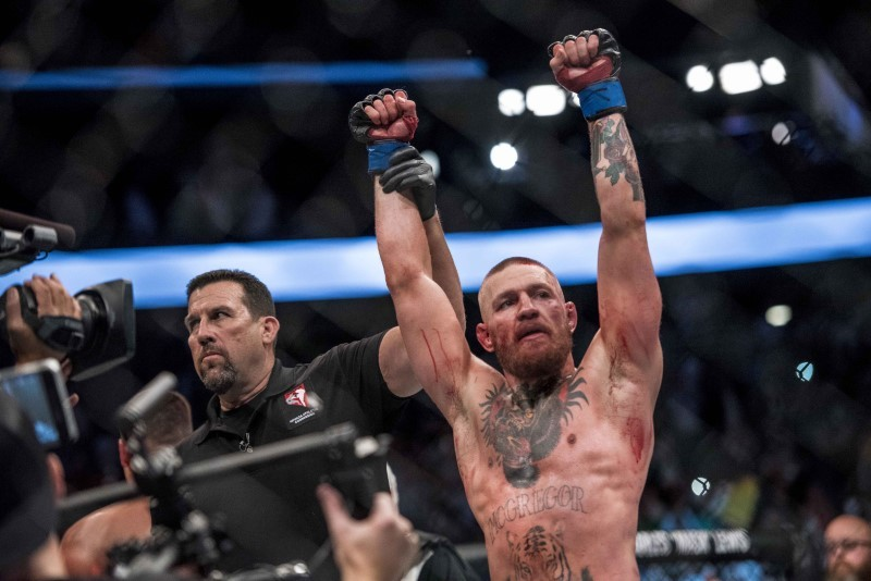 Conor McGregor en uno de sus combates en la UFC