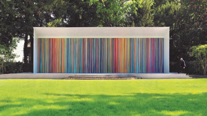 Giardini Colourfall, 2017 Acrílico en paneles de aluminio (Muro: 3,8...
