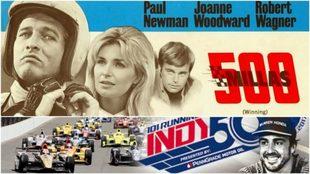 El cartel de '500 Millas', protagonizada por Paul Newman.