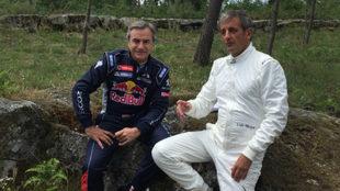 Carlos Sainz y Luis Moya.