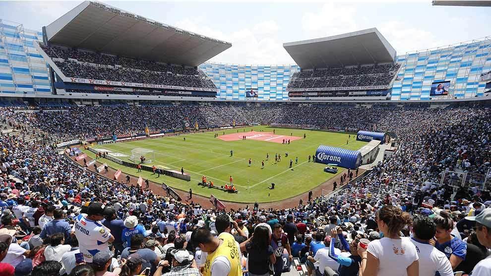 Panorámica del Estadio Cuauhtémoc durante el partido ante Tigres en...