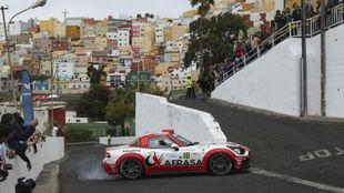 El Abarth 124 Rally durante el Rally Islas Canarias 2017