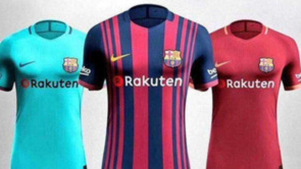 a2937ccdc0 FC Barcelona  Así serán las camisetas del Barça 2017-18