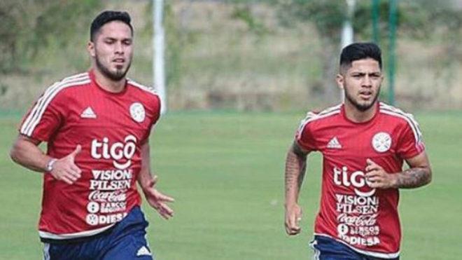 Sergio Díaz, con la selección de Paraguay.