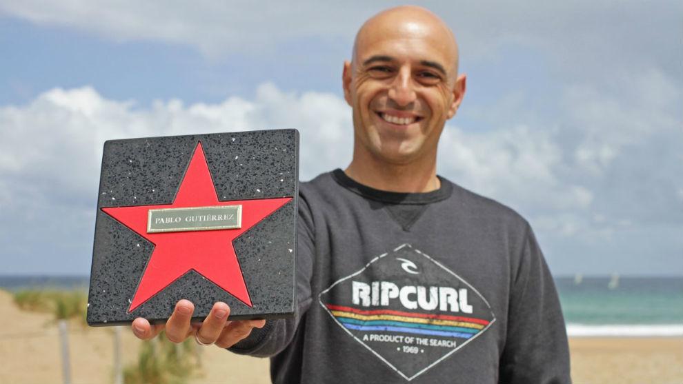 Pablo Gutiérrez, con su estrella.