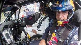 Carlos Sainz y Luis Moya en el Rally de Portugal