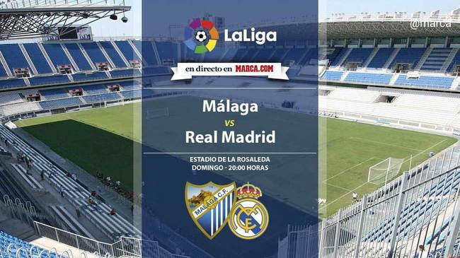 Málaga vs Real Madrid en directo