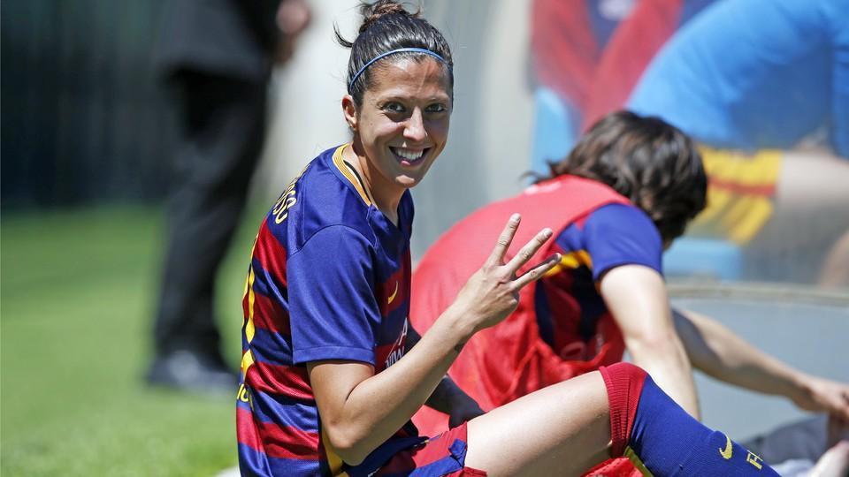 Jenni Hermoso, jugadora del Barcelona.
