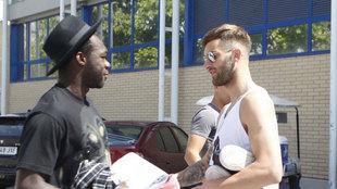 Baptistao y Caicedo en las puertas de la Ciudad Deportiva