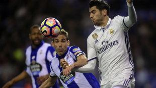Navarro y Morata durante un partido de Liga