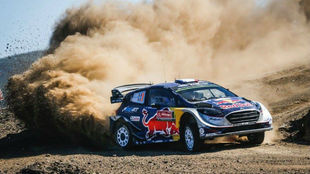 Ogier pilota su Ford Fiesta WRC en Portugal.