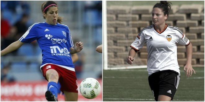 Patricia Ojeda e Ivana Andrés, jugadoras del Tacuense y Valencia.