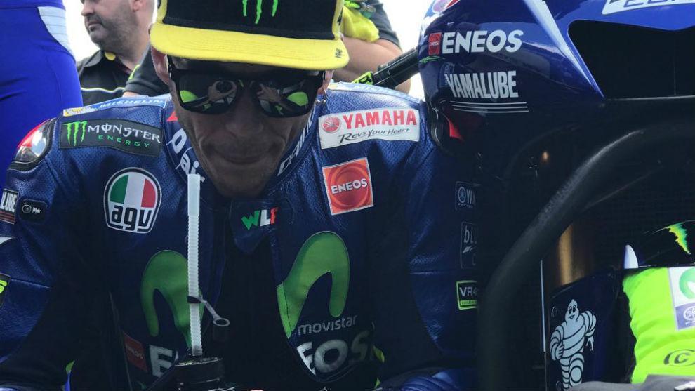 Valentino Rossi, antes de la carrera