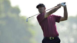 Álvaro Quirós, en Wentworth, durante el PGA Championship de 2012.