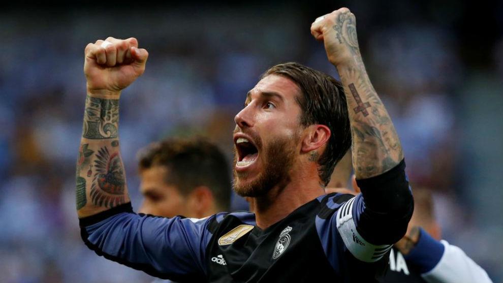 Ramos celebra la Liga