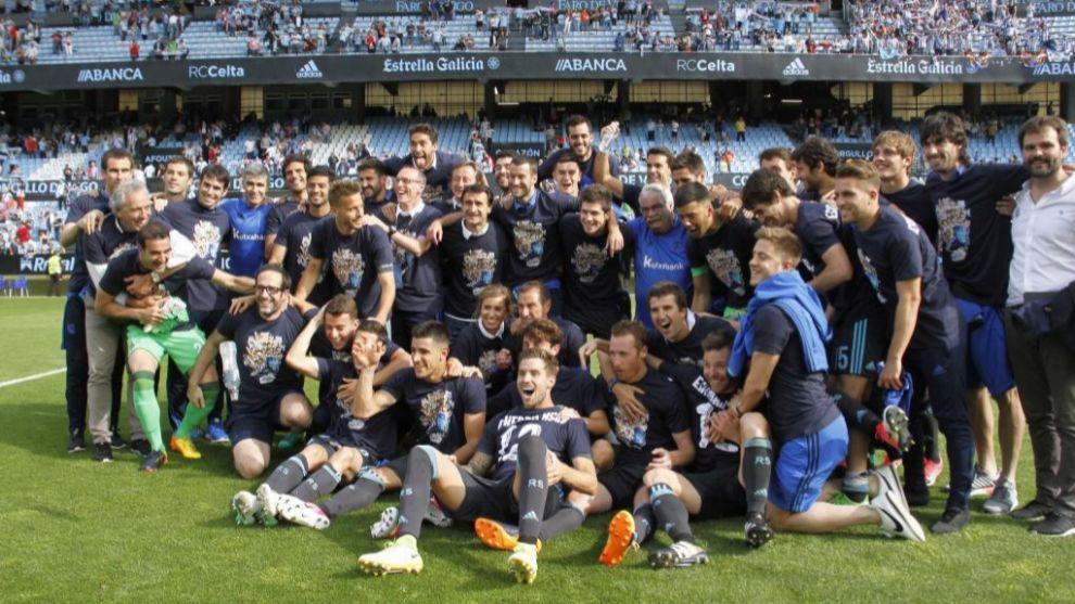 La Real Sociedad celebraba su clasificación para Europa