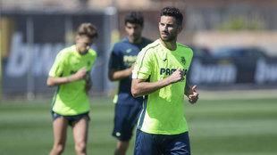 Musacchio entrenando con el Villarreal