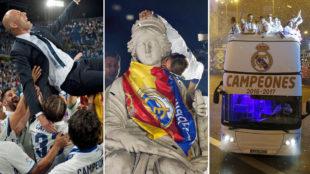 Los mejores momentos de la celebración del Real Madrid
