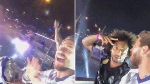 Sergio Ramos coronó a la Cibeles y lo retransmitió con su móvil