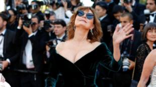 Susan Saradon en la alfombra roja de Cannes 2017