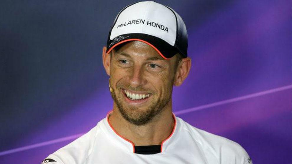 Jenson Button, en la rueda de prensa del pasado GP de Italia de 2016