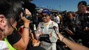 Alonso, tras bajar del coche